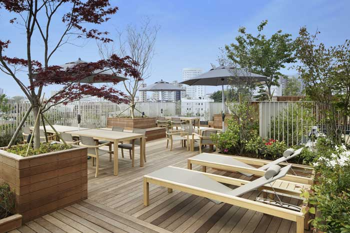 Azabu gardens spacious rooftop terrace for Terrace images